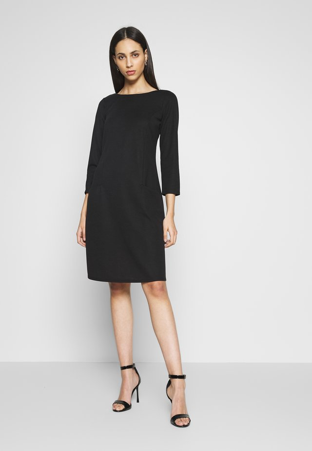 BUCKET POCKET SWING DRESS - Jerseykjole - black