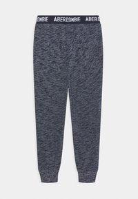 Abercrombie & Fitch - LOGO - Tracksuit bottoms - textured navy - 1