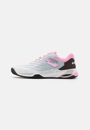 MIRAGE 100 CLY - Clay court tennis shoes - all white/pink/all black