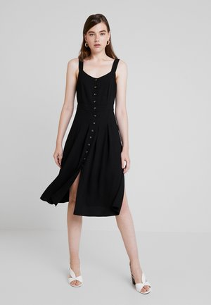 FRONT BUTTON DRESS - Blousejurk - black