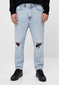 Bershka - Relaxed fit jeans - blue - 0