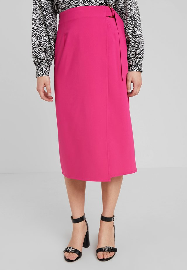 CAMEO SKIRT - Jupe portefeuille - magenta
