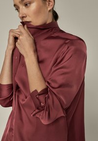 Massimo Dutti - Button-down blouse - bordeaux - 1