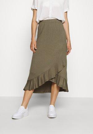 JDYFANTORINI WRAP SKIRT - A-line skirt - kalamata