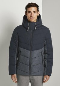 TOM TAILOR - Winter jacket - blue melange structure - 0