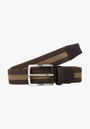 CEINTURE POUR HOMME - Braided belt - dark brown