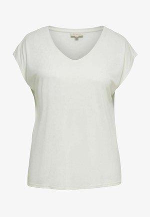 CURVY V-AUSSCHNITT - Basic T-shirt - off white
