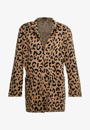 LEOPARD SOPHIE - Cardigan - heather acorn/black