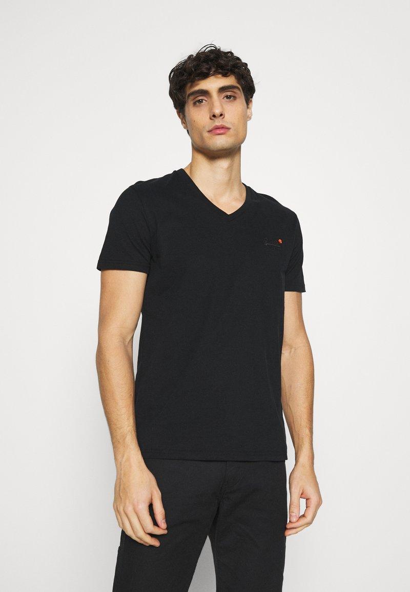 Superdry - CLASSIC TEE - Basic T-shirt - black