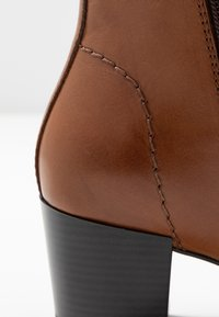 Anna Field Wide Fit - LEATHER BOOTIES  - Ankelboots - cognac - 2