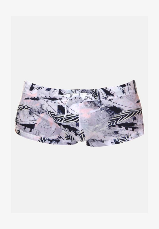 Swimming trunks - grau/navy/rot