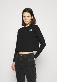 The North Face - CROP TEE - Long sleeved top - black - 0