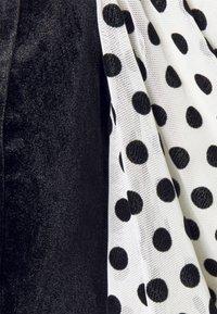 Missguided Petite - VELVET FLOCKED SPOT  - Top - black - 5