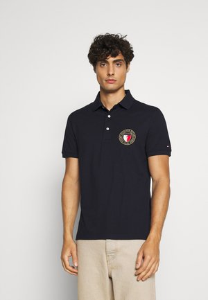 CREST CHEST SLIM - Polo shirt - blue