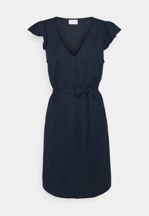 VIWANDERA  V NECK SHORT DRESS - Day dress - navy blazer