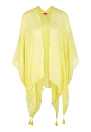 MIT QUASTEN - Poncho - yellow