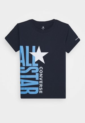 ALL STAR STACKED TEE - Print T-shirt - obsidian