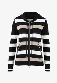 Alba Moda - Zip-up sweatshirt - schwarz,off-white,taupe - 5