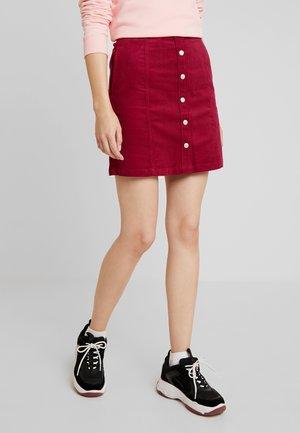 BUTTON DOWN SKIRT - A-line skirt - beet red