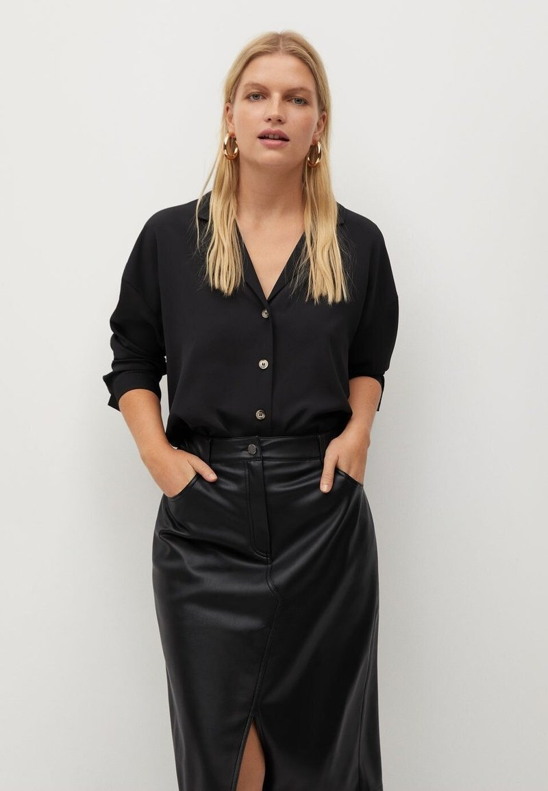 Violeta by Mango - EVERY - Button-down blouse - schwarz