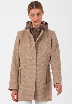 Winter coat - sand tweed