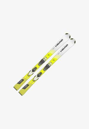 Skiing - weiß-gelb