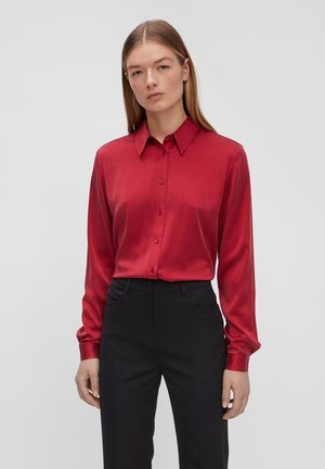 MALLORY SILK - Button-down blouse - chili red