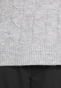 Even&Odd - CABLE LONG LINE - Jersey de punto - mottled light grey - 6