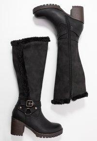 H.I.S - Vysoká obuv - black - 3