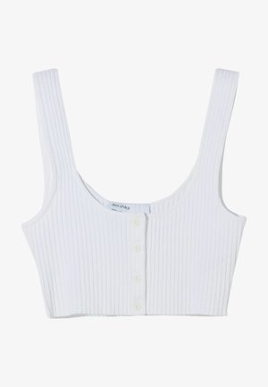 TOP WITH BUTTONS 03256623 - Linne - white