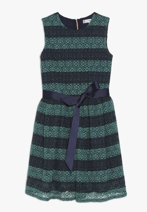 STRIPE DRESS  - Vestido de cóctel - blue