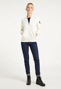 DreiMaster - Zip-up sweatshirt - wollweiss - 1