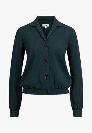 Button-down blouse - dark green
