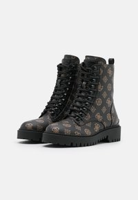Guess - OXANA - Bottines à lacets - brown/ocra - 2