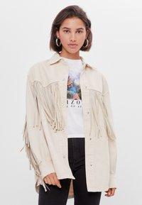 Bershka - Summer jacket - white - 0