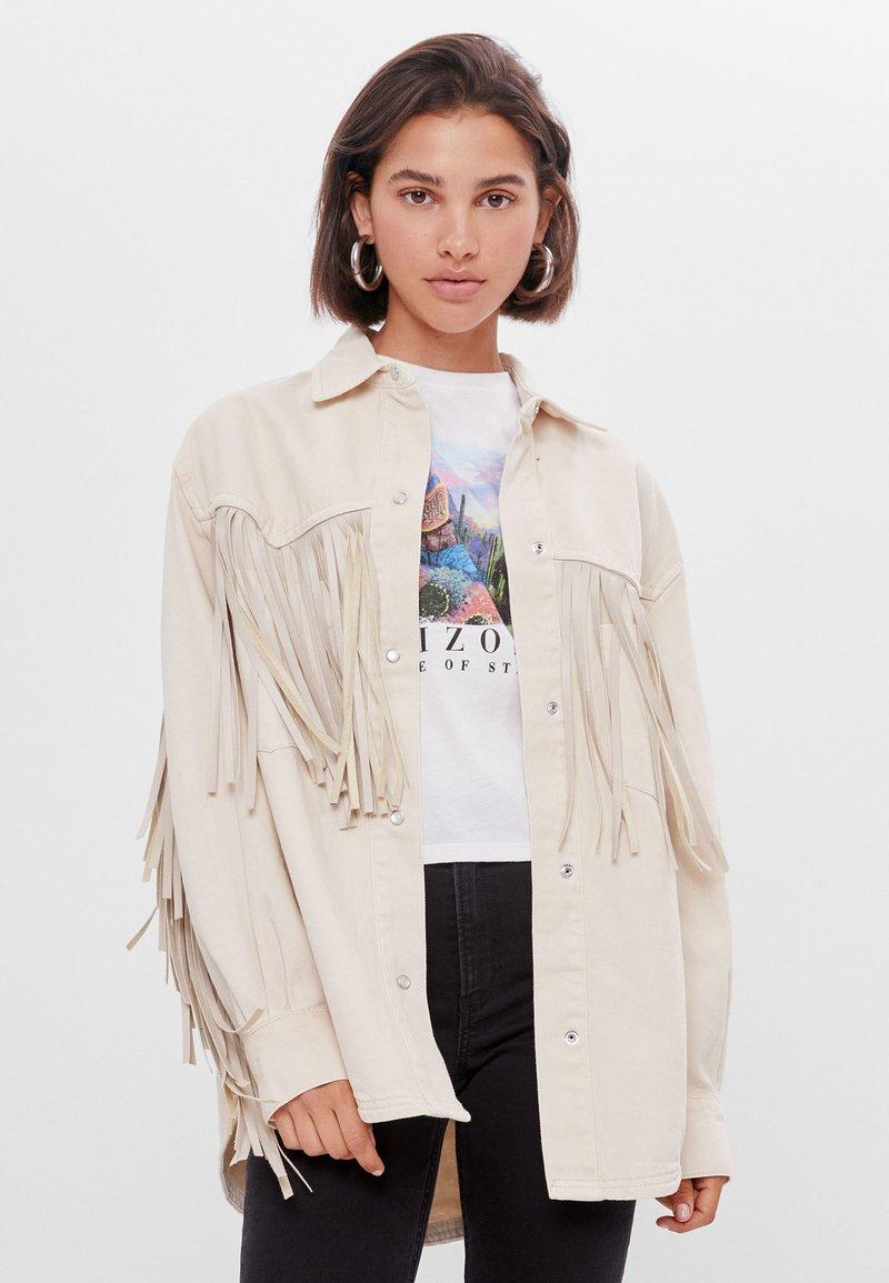 Bershka - Summer jacket - white