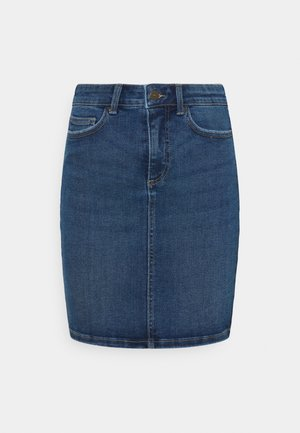 PCLILI SKIRT - Mini skirt - medium blue denim