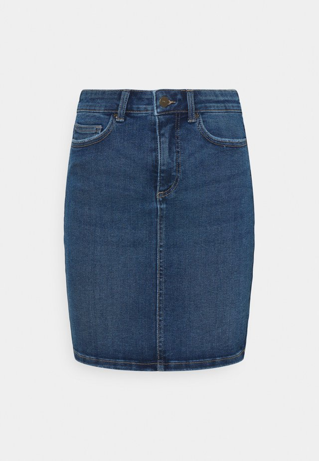 PCLILI SKIRT - Spódnica mini - medium blue denim