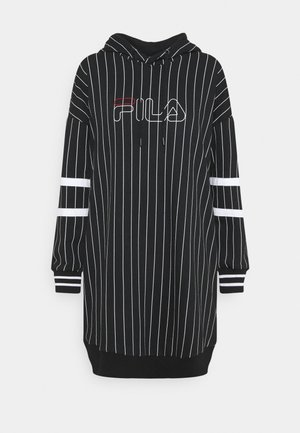 JAMI LONG SPORTY HOODY - Day dress - black/bright white