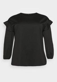 CARLY VOLUME SLEEVE - Sweatshirt - black