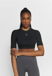 adidas by Stella McCartney - CROP - T-shirt basic - black - 0
