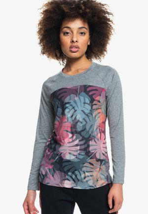 NIGHT THOUGHTS LANGÄRMLIGES FUNKTIONS - Long sleeved top - true black palm camo