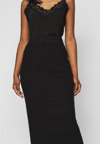 Fashion Union Petite - MEEKER SKIRT - Pencil skirt - black - 4
