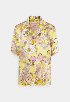 Button-down blouse - jaune/lilas