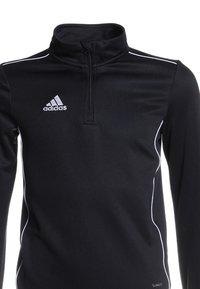 adidas Performance - CORE 18 TRAINING TOP - Sports shirt - black/white - 2