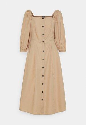 VMKARINA SQUARE DRESS  - Shirt dress - beige