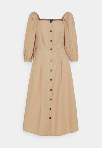 VMKARINA SQUARE DRESS  - Vestido camisero - beige
