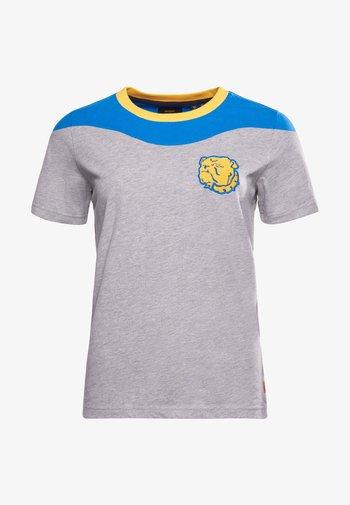 COLLEGIATE - Print T-shirt - grey marl/blue