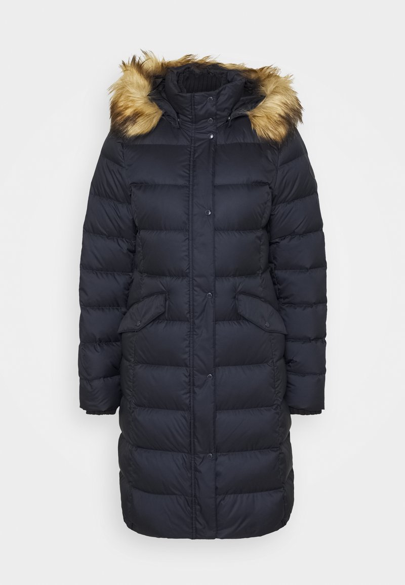 Marc O'Polo - COAT LONG FILLED HOOD FLAP POCKETS - Down coat - midnight blue