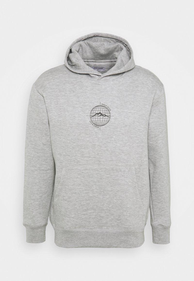 Daily Basis Studios - WORLDWIDE HOOD UNISEX - Sweatshirt - grey marl